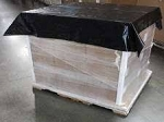 250 pcs 1.25 Mil Pallet Top Cover Sheets-BLACK, 60x60